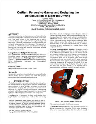 OutRun: perversive games and designing the de-simulation of eight-bit driving