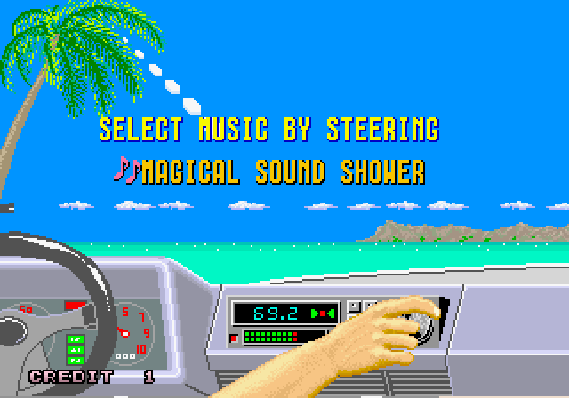 Out Run music select (arcade) Top 10 Old School 80s Racing Games