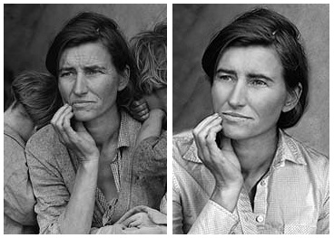 an analysis of the visual art the migrant mother This idea of motherhood is capture in dorothea lange's picture, migrant mother formal analysis when constructing as paintings and other such works of art.